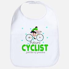 Future Cyclist like Grandma Baby Infant Bib