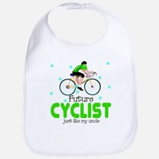 Future Cyclist like Uncle Baby Infant Toddler Bib