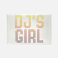 DJ's Girl Rectangle Magnet