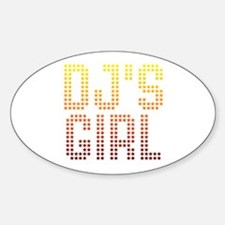 DJ's Girl Oval Decal