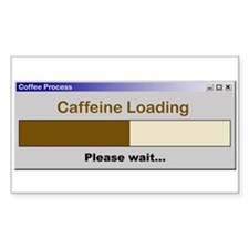 Caffeine Loading Please Wait Rectangle Decal