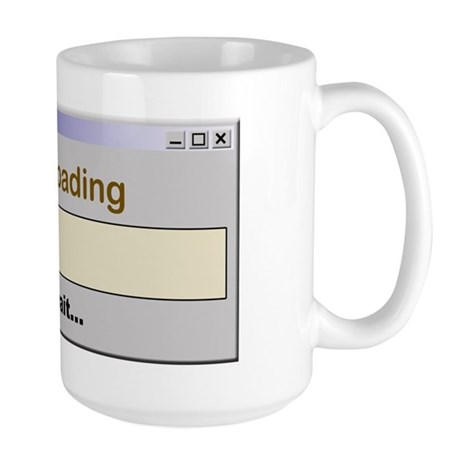 Caffeine Loading Please Wait Large Mug
