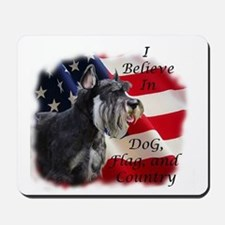Dog, Flag, and Country Mousepad