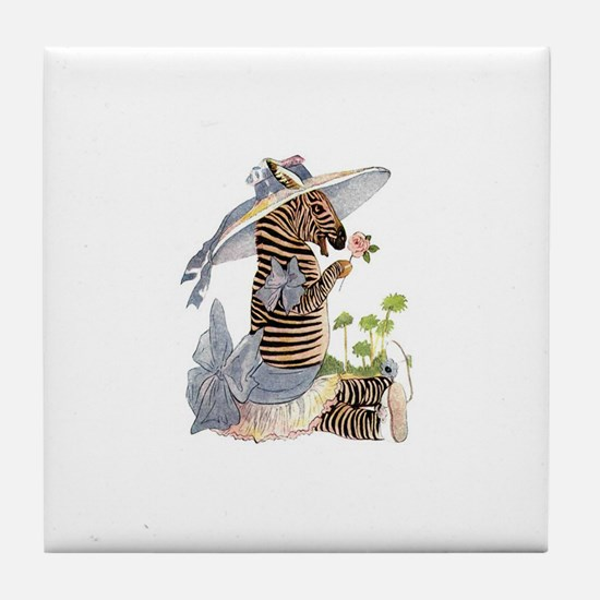 Playful Zebra Tile Coaster