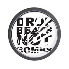 Drop Beats, Not Bombs Explosion Wall Clock