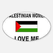 Palestinian Women Love Me Oval Decal