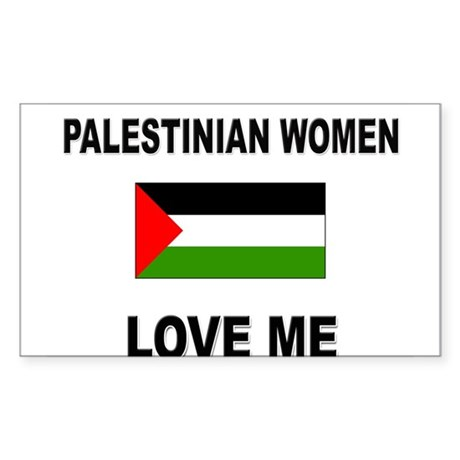 Palestinian Women Love Me Rectangle Sticker