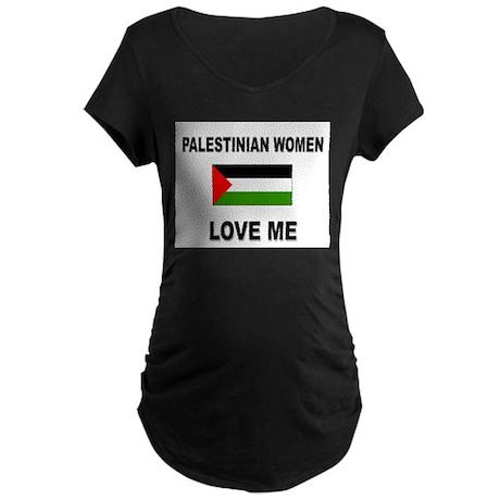 Palestinian Women Love Me Maternity Dark T-Shirt