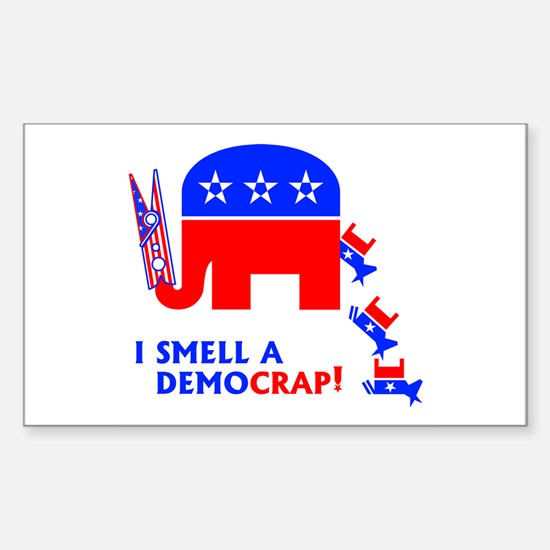 I Smell A Democrap - Rectangle Decal