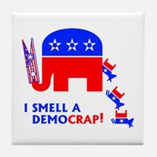 I Smell A Democrap - Tile Coaster