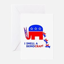 I Smell A Democrap - Greeting Cards (Pk of 10