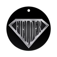 SuperFielder(metal) Ornament (Round)