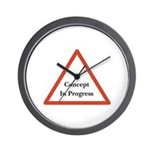 Concept in Progress Wall Clock
