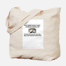 """Adopt/spay/neuter -cat""  Tote Bag"