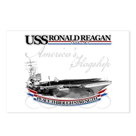USS Ronald Reagan Postcards (Package of 8)