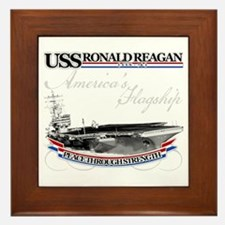 USS Ronald Reagan Framed Tile