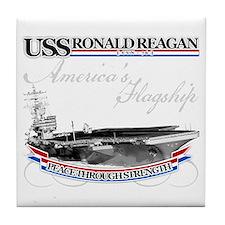 USS Ronald Reagan Tile Coaster