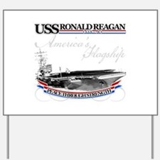 USS Ronald Reagan Yard Sign