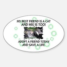 """My best friend"" Oval Decal"