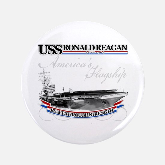 "USS Ronald Reagan 3.5"" Button"