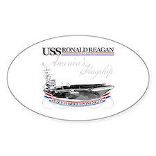 USS Ronald Reagan Oval Decal