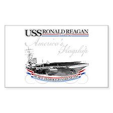 USS Ronald Reagan Rectangle Decal