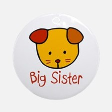 Dog Big Sister Ornament (Round)