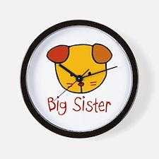 Dog Big Sister Wall Clock