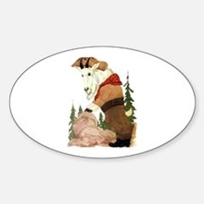 Cute Mountain Goat Oval Decal