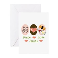 Peace Love Sushi Greeting Cards (Pk of 20)