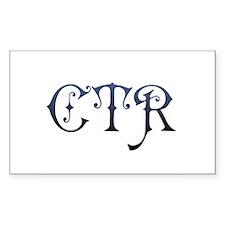 CTR Rectangle Decal