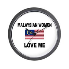 Malaysian Women Love Me Wall Clock
