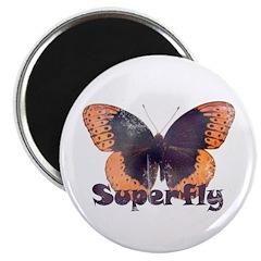 Vintage Distressed Superfly B Magnet