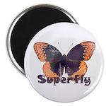 "Vintage Distressed Superfly B 2.25"" Magnet (1"