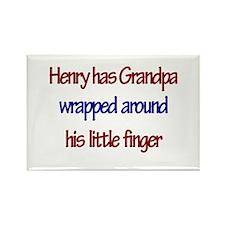 Henry Has Grandpa Rectangle Magnet