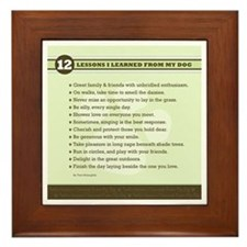 Lessons From My Dog Framed Tile
