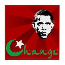 Anti-Obama: Change Tile Coaster