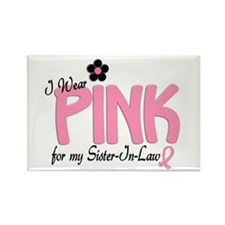 I Wear Pink For My Sister-In-Law 14 Rectangle Magn