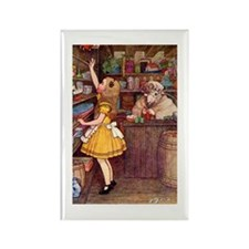 ALICE IN THE SHEEP'S SHOP Rectangle Magnet