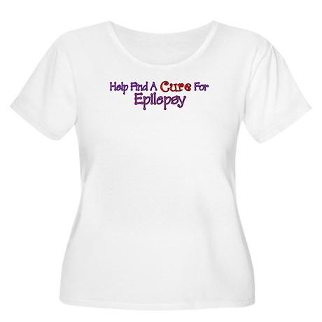 Help find Cure EPILEPSY Women's Plus Size Scoop Ne