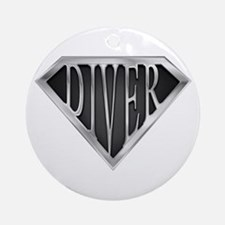 SuperDiver(metal) Ornament (Round)