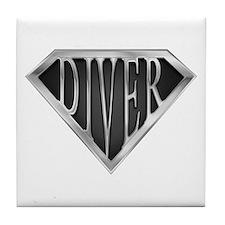 SuperDiver(metal) Tile Coaster