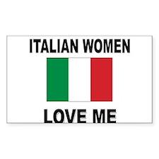 Italian Women Love Me Rectangle Decal