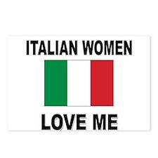 Italian Women Love Me Postcards (Package of 8)