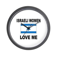 Israeli Women Love Me Wall Clock
