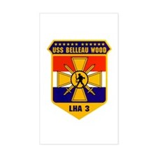 USS Belleau Wood LHA-3 Rectangle Decal