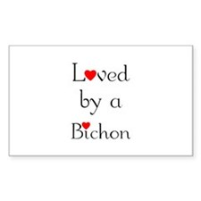 Loved by a Bichon Rectangle Decal