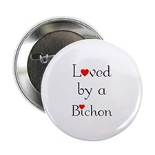 Loved by a Bichon Button