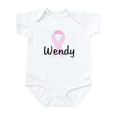 Wendy pink ribbon Infant Bodysuit