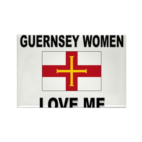 Guernsey Women Love Me Rectangle Magnet (10 pack)